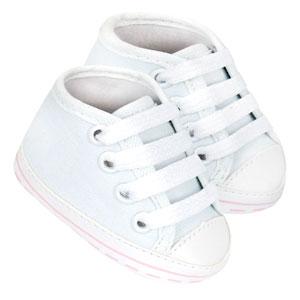 Tênis Bebê Feminino Star Cano Alto Branco (P/M/G/GG) - Baby Soffete - Tamanho GG - Branco