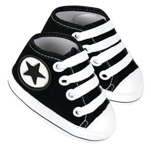 Tênis Bebê Cano Alto Star Preto (P/M/G/GG) - Baby Soffete - Tamanho GG - Preto