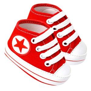 Tênis Bebê Cano Alto Star Vermelho (P/M/G/GG) - Baby Soffete - Tamanho GG - Vermelho