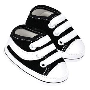 Tênis Bebê Skate Preto e Branco (P/M/G/GG) - Baby Soffete - Tamanho GG - Preto