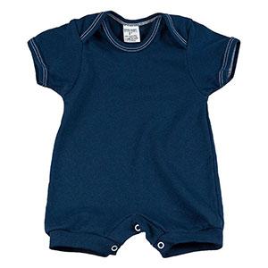 Macacão Bebê Suedine Liso Manga Curta (P/M/G) - MMD Baby - Tamanho G - Azul Marinho