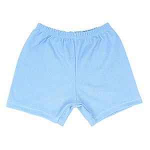 Shorts Bebê Canelado Liso sem Punho (1/2/3) - Top Chot - Tamanho 3 - Azul
