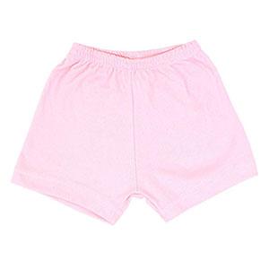 Shorts Bebê Canelado Liso sem Punho (1/2/3) - Top Chot - Tamanho 3 - Rosa