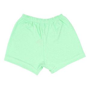 Shorts Bebê Canelado Liso sem Punho (1/2/3) - Top Chot - Tamanho 3 - Verde