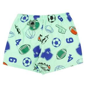 Shorts Bebê Maculino Canelado Estampado sem Punho Verde Esportes (1/2) - Top Chot - Tamanho 2 - Verde