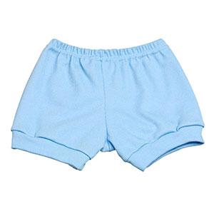 Tapa Fralda (Shorts) Bebê Canelado Liso (P/M/G) - Top Chot - Tamanho G - Azul