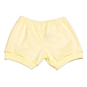 Tapa Fralda (Shorts) Bebê Canelado Liso (P/M/G) - Top Chot - Tamanho G - Creme