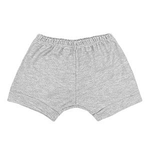 Tapa Fralda (Shorts) Bebê Canelado Liso (P/M/G) - Top Chot - Tamanho G - Mescla