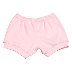 Tapa Fralda (Shorts) Bebê Canelado Liso (P/M/G) - Top Chot - Tamanho G - Rosa