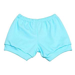 Tapa Fralda (Shorts) Bebê Canelado Liso (P/M/G) - Top Chot - Tamanho G - Turquesa