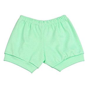 Tapa Fralda (Shorts) Bebê Canelado Liso (P/M/G) - Top Chot - Tamanho G - Verde