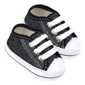 Tênis Bebê Star Jeans Preto (P/M/G/GG) - Baby Soffete - Tamanho G - Preto