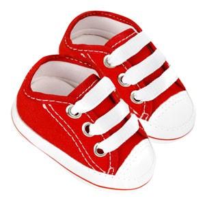 Tênis Bebê Star Vermelho (P/M/G/GG) - Baby Soffete - Tamanho G - Vermelho