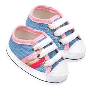 Tênis Bebê Star Jeans (P/M/G/GG) - Baby Soffete - Tamanho G - Jeans,Rosa,Azul